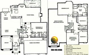 Image of Warner Ranch Tempe floor plans: model Manor 586