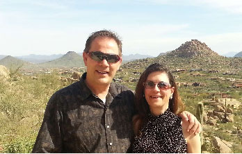 Clients reviewing Metro Phoenix Realtors Ron & Kristina Wilczek