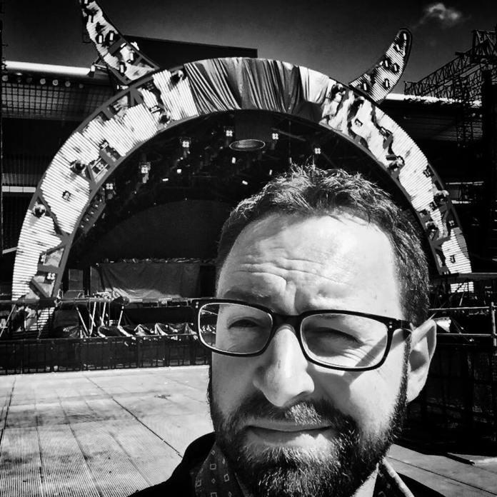 Gilles Simon au stade de Suisse pour le concert d'AC/DC - 29 mai 2016