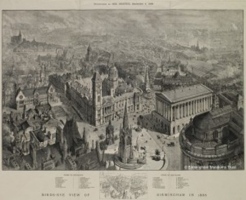 Chamberlain Square, Birmingham: Nineteenth Century