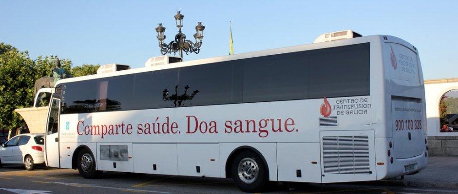 Resultado de imagen de unidad movil donacion sangre galicia