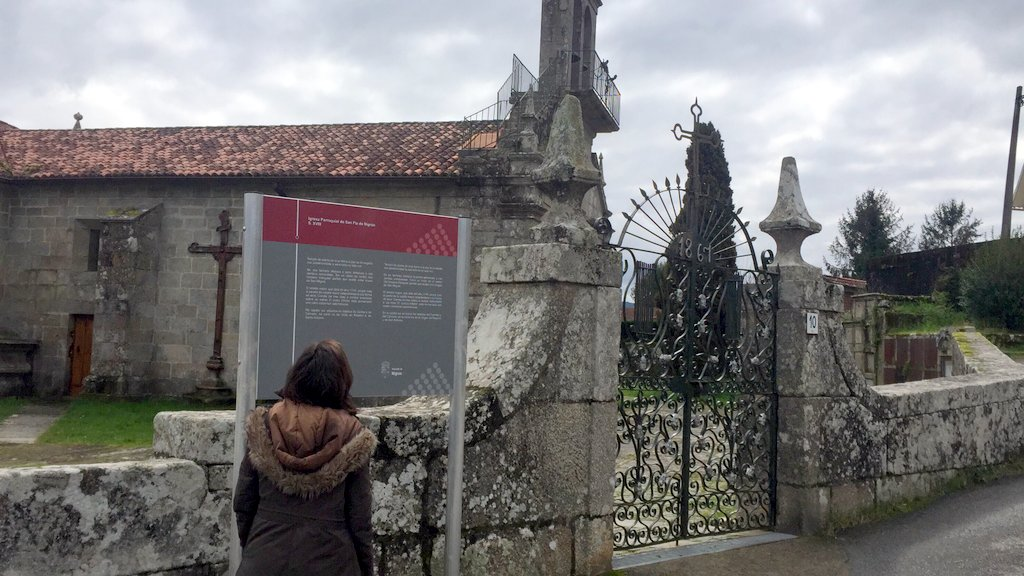 NIGRÁN SINALIZA O PATRIMONIO HISTÓRICO DO CAMIÑO PORTUGUÉS POLA COSTA