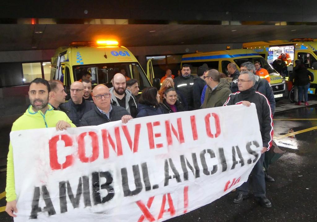 PROTESTA CONVENIO AMBULANCIA ÁLVARO CUNQUEIRO VIGO
