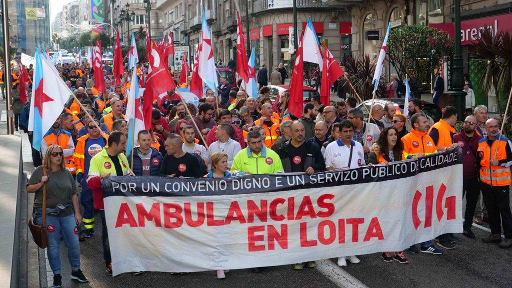 CENTOS CLAMAN CONTRA A XUNTA POLA SÚA FALTA DE IMPLICACIÓN NO CONFLITO DO SECTOR DAS AMBULANCIAS
