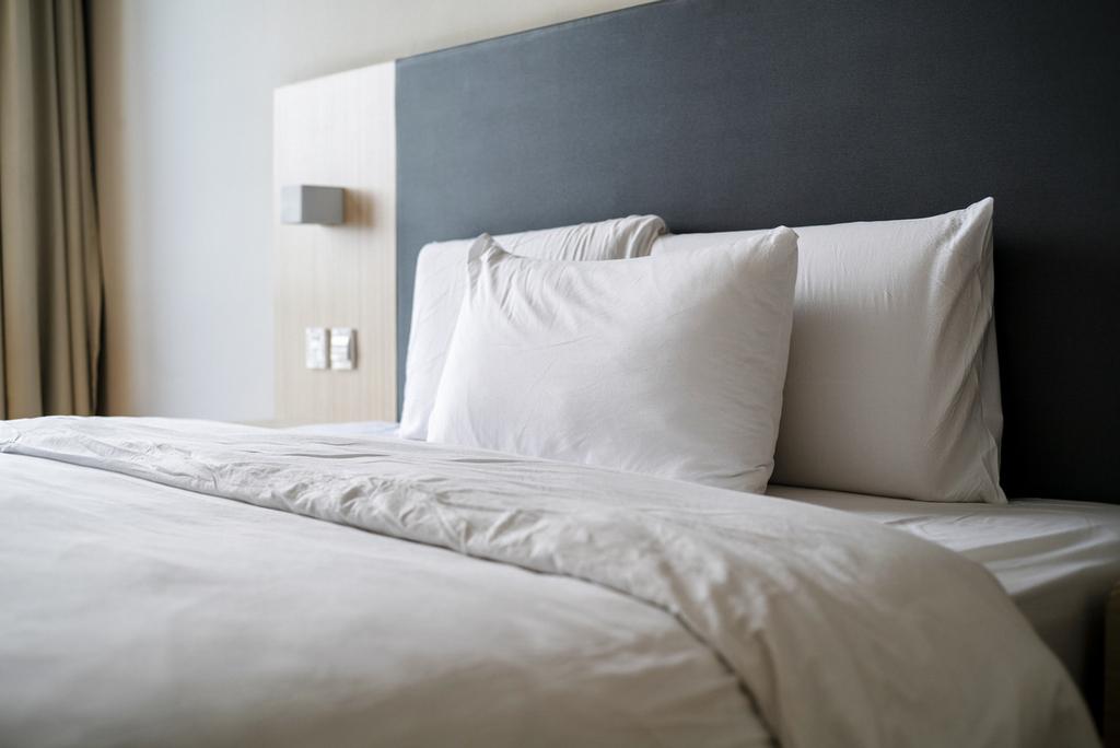 tidy bedding of bedroom