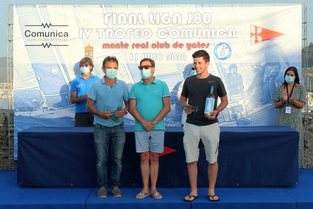 2020-07-12 – Javier de la Gándara y su hijo Jaime recogieron el premio al vencedor del Trofeo Comunica – Foto Carlos Hernández