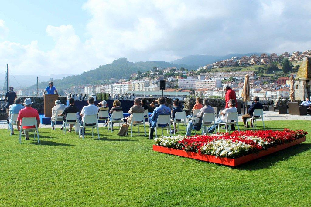 2021-07-07 – Reunion de patrones previa a la salida del I Rally Rías Baixas de Galicia – Foto Leticia Acero