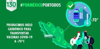 Heineken México produce hielo carbónico para transportar vacunas COVID-19