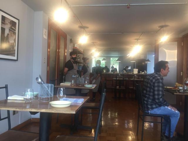 Vista parcial del restaurante La Ahijada.