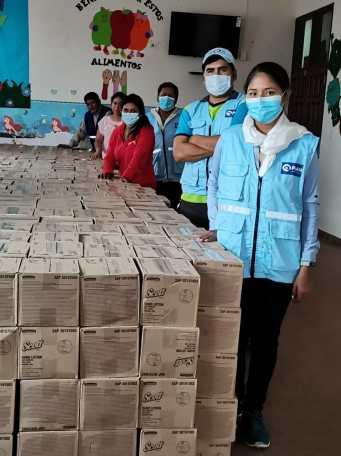 Kimberly-Clark Bolivia donó a municipios cruceños más de 14 mil jabones Scott en spray.