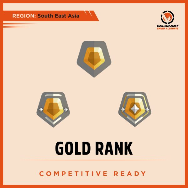 SEA Valorant Gold rank Account for sale