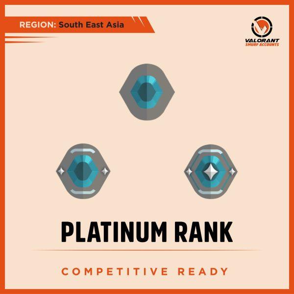 SEA Valorant Platinum rank Account for sale