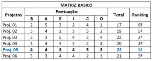 Image result for Matriz BASICO