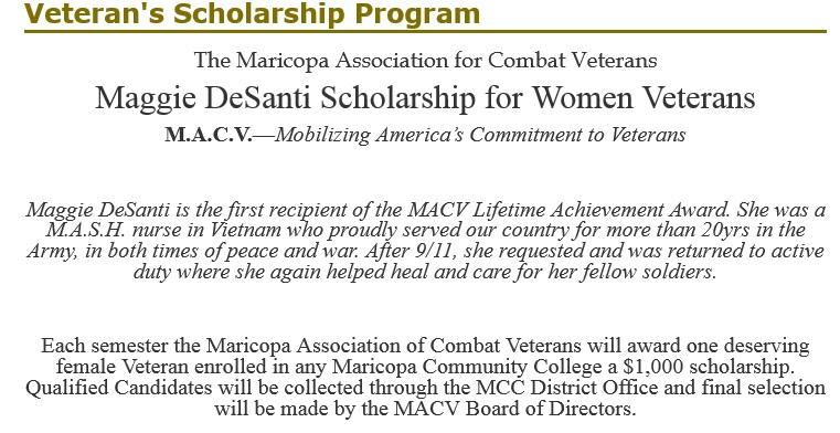 Maggie DeSanti Scholarship