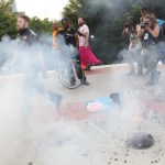Weenies burn flag to protest cops…
