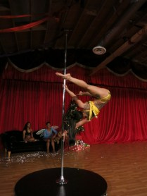 Belly dancing on a pole