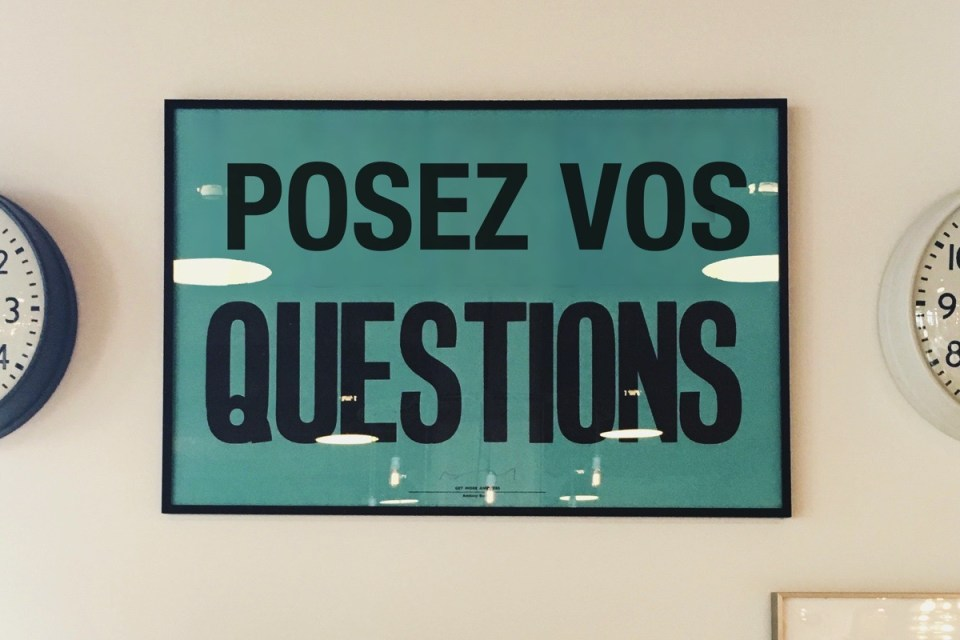Posez vos questions