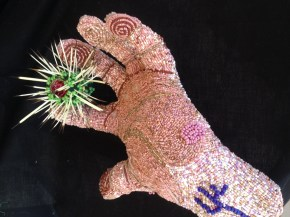Ouch! Beaded Sculpture