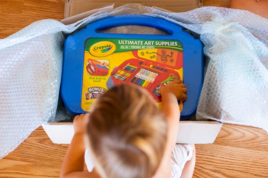 Great Auntie Anita's art box an instant hit