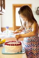 Homemade raspberry cake