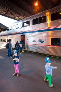 Borading the Coast Starlight in Portland