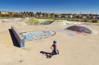 Testing out the Petaluma skatepark today