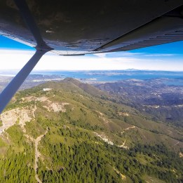 Mount Tamalpais with Mount Diablo in the distance