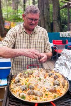Jerry building paella