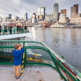 The ferry back to Seattle from Bainbridge Island