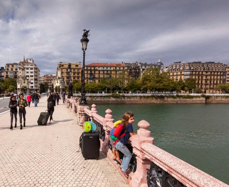 Arrival in San Sebastian