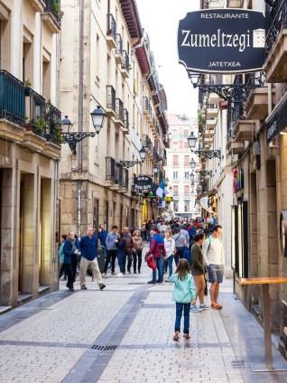 San Sebastian's old town