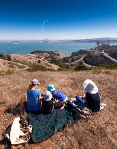 Enjoying the Blue Angels and the rest of the air show from the Marin Headlands