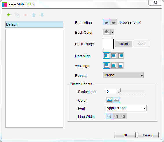 Axure default page style