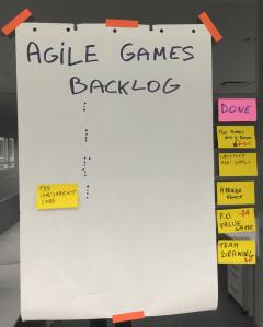 Agile games backlog