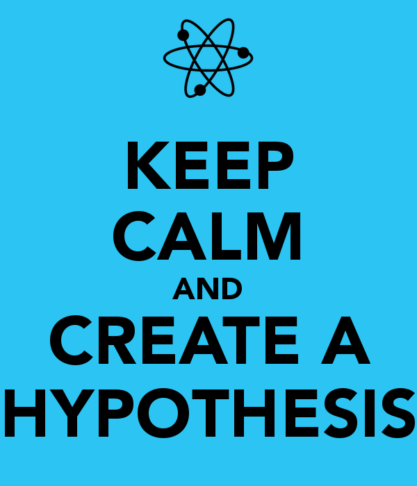 keep calm and create a hypothesis lean ux value first