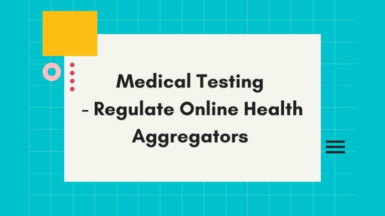 Regulate Online Health Aggregators