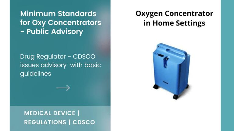 Advisory on Oxygen Concentrators from CDSCO