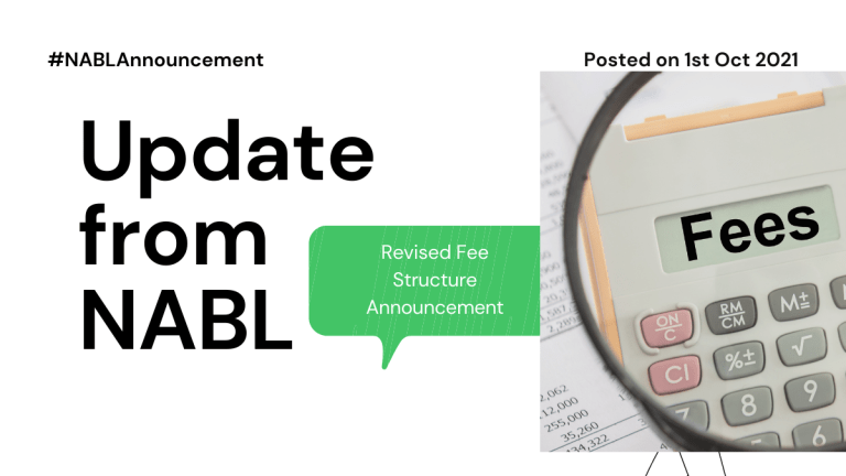 Fee Update from NABL