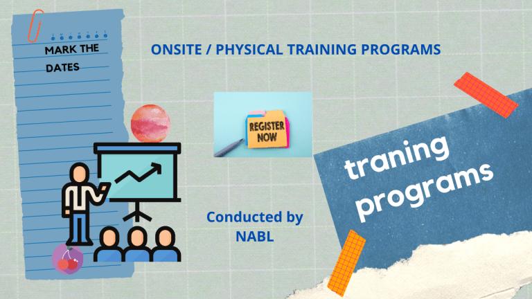 NABL Training Programs