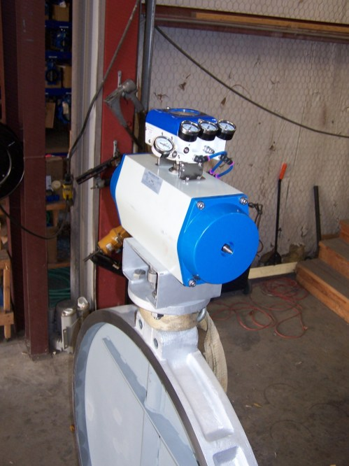 Dampers w actuator w postioner