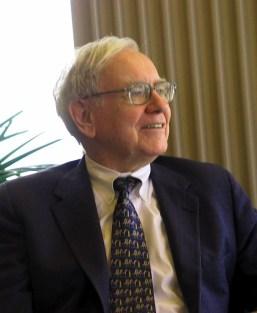 Warren Buffett speaking to a group of students...