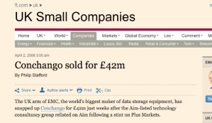 Conchango Sold for £42 million