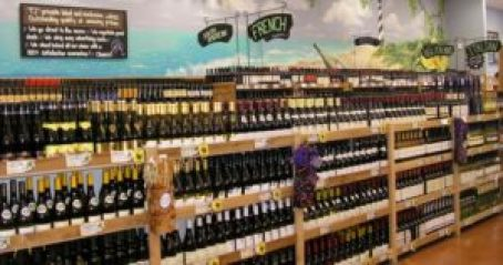 Trader Joe's wine department