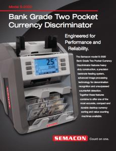 Bank Grade Two Pocket Currency Discriminator Icon