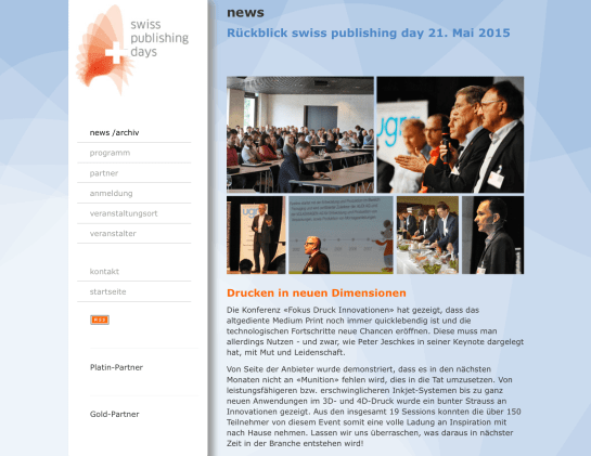 Impressionen Swiss Publishing Day  Mai 2015