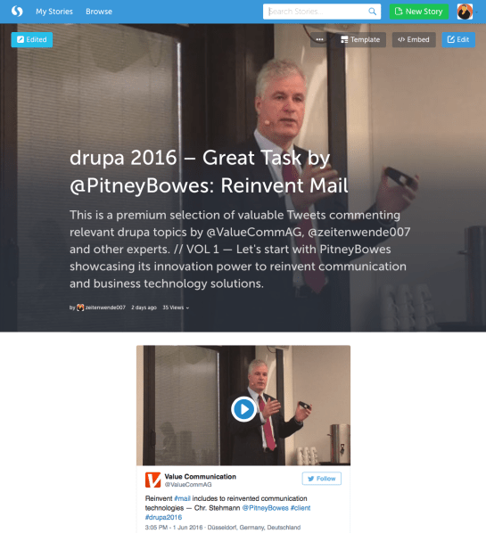 drupa2106 Storify PitneyBowes by ValuePublishing