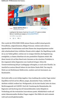 Textauszug von Christian Kopocz aus LinkedIn