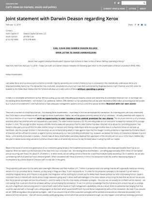 Icahn open letter 02122018
