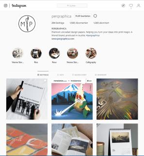 Screenshot von der Instagram Site von Mondi