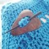 Coconut Shell Shawl Pin